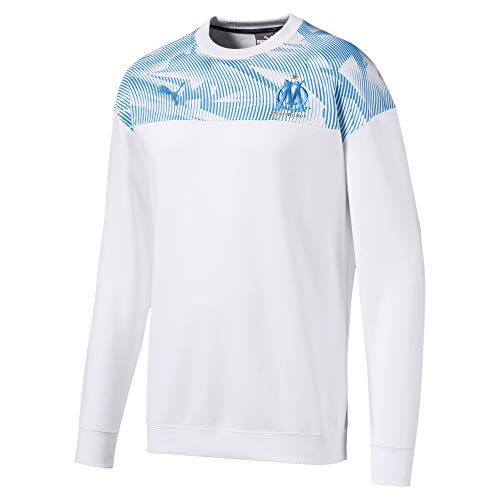 PUMA 2019-2020 Olympique Marseille Casuals Sweat Top (White)