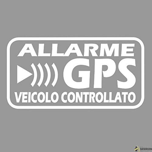 StickersLab - Adesivi Allarme GPS antifurto satellitare per Evitare i furti Auto Moto Camion Caravan (Quantità - 4 Pezzi (12x6cm))