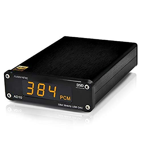 Aimpire AD10 Mini USB DAC CSS XMOS XU208 ES9018K2M OPA2134 Amplificador de Audio decodificador