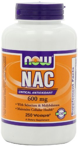 Now 600mg NAC with Solenium and Molybdenum 250 Veg Capsules