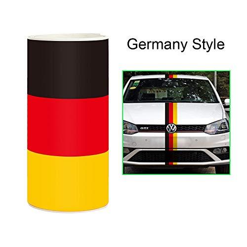 takestop® folie carbon vlag Duitsland 4D ws1046 15 x 500 cm sticker folie car wrapping auto motorfiets anti-kras 3 kleuren