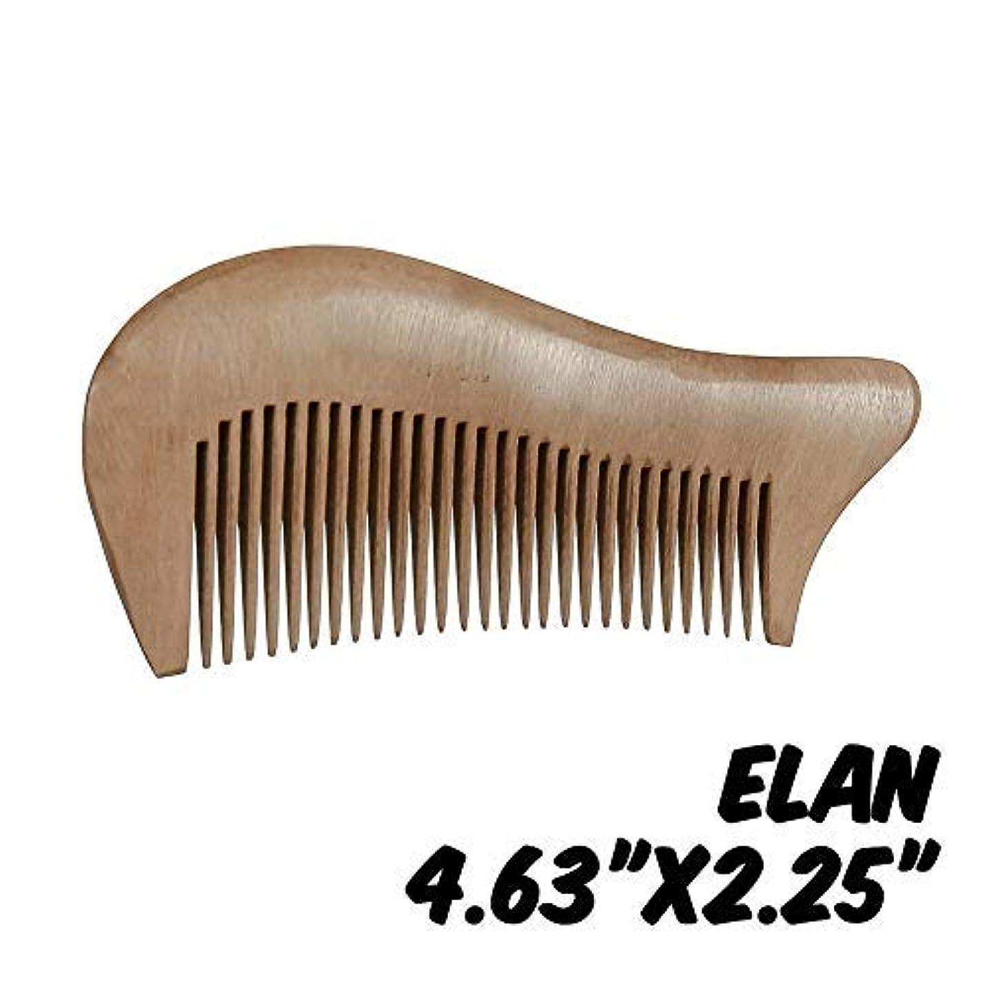 進化する豊富例示するMarkin Arts Elan Series Handmade Natural Organic Indian Lilac Wood Anti-Static Hypoallergenic Pocket Handle Dry Comb Healthy Shiny Hair Beard Bristle Stubble Styling Grooming Brush 4.63