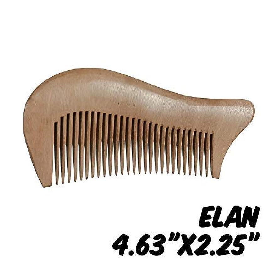 ダンス投獄通信網Markin Arts Elan Series Handmade Natural Organic Indian Lilac Wood Anti-Static Hypoallergenic Pocket Handle Dry Comb Healthy Shiny Hair Beard Bristle Stubble Styling Grooming Brush 4.63