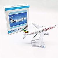 飛行機モデル、誕生日プレゼント、子供のおもちゃ、1:400、16CM合金飛行機モデル旅客機エチオピアボーイング777家具装飾コレクション