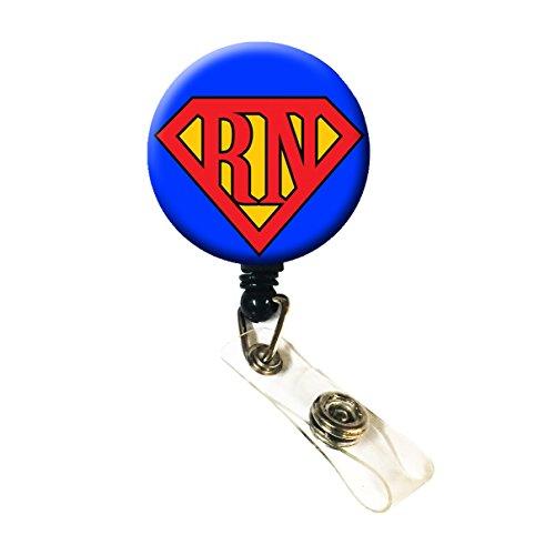 WigsPedia Retractable Name ID Badge Holder Reel/ID Badge Holder - Super RN (Alligator Clip Back)