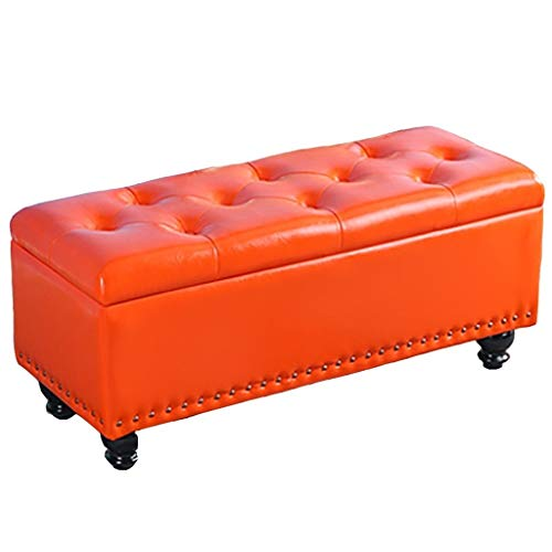 JQQJ Ottoman Box milieuvriendelijke stof slaapkamer bank voet rust stoel opslag Ottomanen banken antislip zitbank