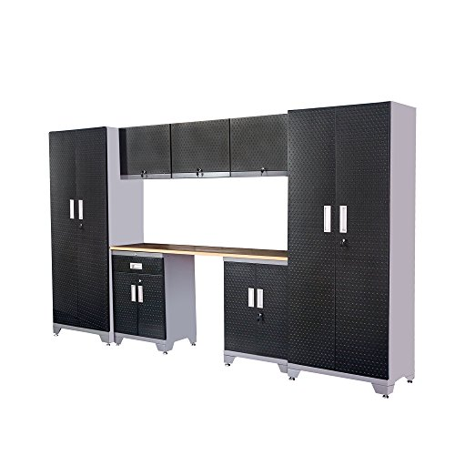 Garage Storage Cabinet Sets Organization - Most Popular in 2018, Total 8 Piece, 24...
