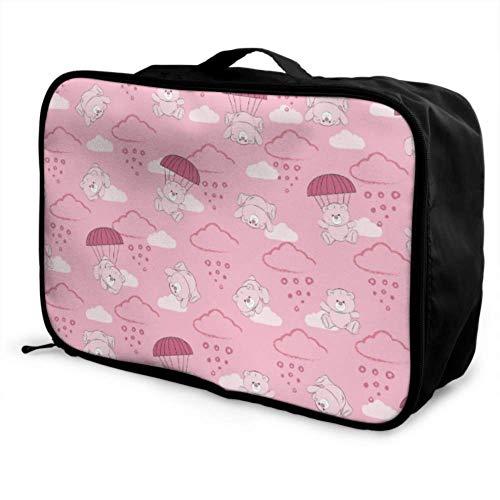 Custom Best Travel Duffel Bag Lightweight Cute Romance Beautiful Parachute Luggage Garment Bags Foldable Portable Storage Luggage Bag With Trolley Sleeve