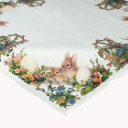 Kamaca Tischdecke Ostern Nostalgisch hochwertiges Druck-Motiv mit tollem Ostermotiv Eyecatcher in Frühling Ostern (Mitteldecke 85x85 cm)