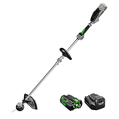 EGO Power+ ST1504SF 15-Inch Foldable Shaft String Trimmer with Rapid Reload Head 5.0Ah Battery & Charger Included