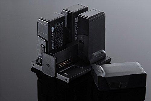 DJI - Ladestation für die Intelligent Flight Batteries von DJI Mavic Air, Ladegerät für bis zu 4 Zusatzakkus, Ultra-Schnell ladend, Drohnen, Zubehör , Ideal für längere Drohnenflüge - Schwarz