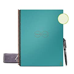 No more wasting paper - this 32 page lined notebook can be used endlessly by wiping clean with a damp cloth Blast your handwritten notes to popular cloud services like Google drive, Dropbox, Evernote, box, OneNote, Slack, iCloud, email and more using...