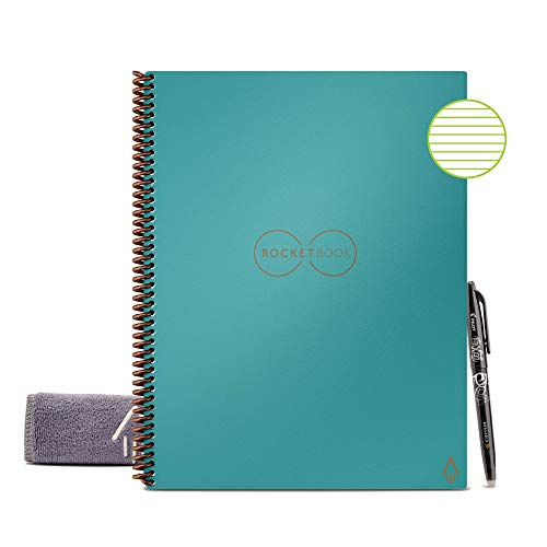 Rocketbook Smart Reusable Notebook - Lined Eco-Friendly...