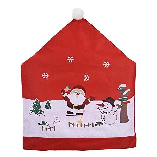 Lebeaut 2pc Cubierta de la Silla de Navidad del Hotel Restaurante la decoración Festiva de Navidad Comedor Kitchen Party Decoración Decoración De Restaurante Desmontable Y Lavable