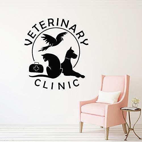 Geiqianjiumai Veterinaire Kliniek Ziekenhuis Winkel Hond Kat Muursticker Huisdier Schoonheidssalon Art Vinyl Muursticker Verwijderbare raamsticker