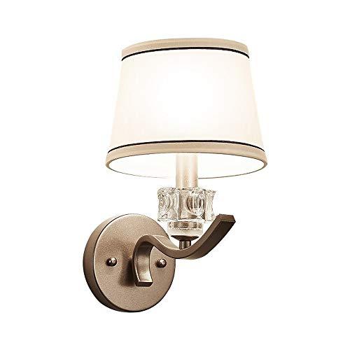 Lyuez Single Head-wandlamp Bedside-slaapkamerlamp modern minimalistische wandlamp creatieve warm-doek afdekkinglampen eenvoudige stof lampenkap wandlamp