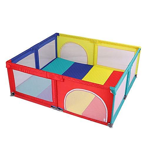 ZTMN Parque Colorido Grande para bebés/niños pequeños, Valla de Seguridad Extra Alta de 70 cm con tapete (se Puede Usar en la Cama, tamaño Opcional) (tamaño: 150 x 150 cm)
