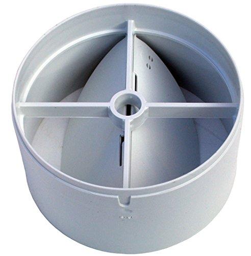 100mm Inline-Sauglüfter Entlüftung Rückseite Zugluftklappe mit einer Feder und zwei Klappen