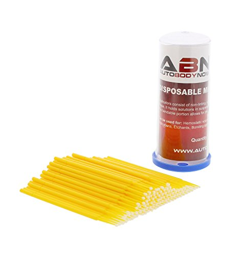 ABN Fine-Point Disposable Brush Applicator 100 Pack – for Lint-Free Detailing, Touchups, and More