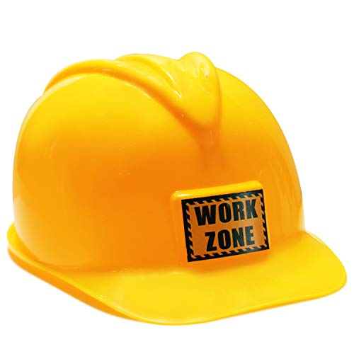 Find Bargain FunLand Construction Worker Helmet for Kids Plastic Hat Dress Up Costume Child Party Ha...