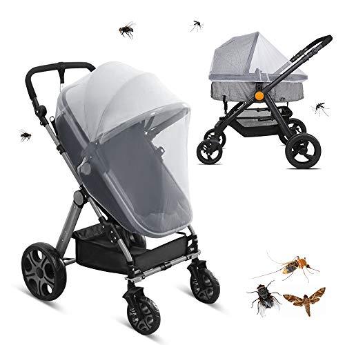 LEMESO Mückennetz Kinderwagen Insektenschutz Moskitonetz für Buggy Reisebett Universal