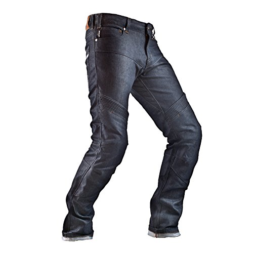 SHIMA Fukushima Gravity Cordura Classic Protections Homme Gusset Moto Jeans, Blue, Taille 36 Long