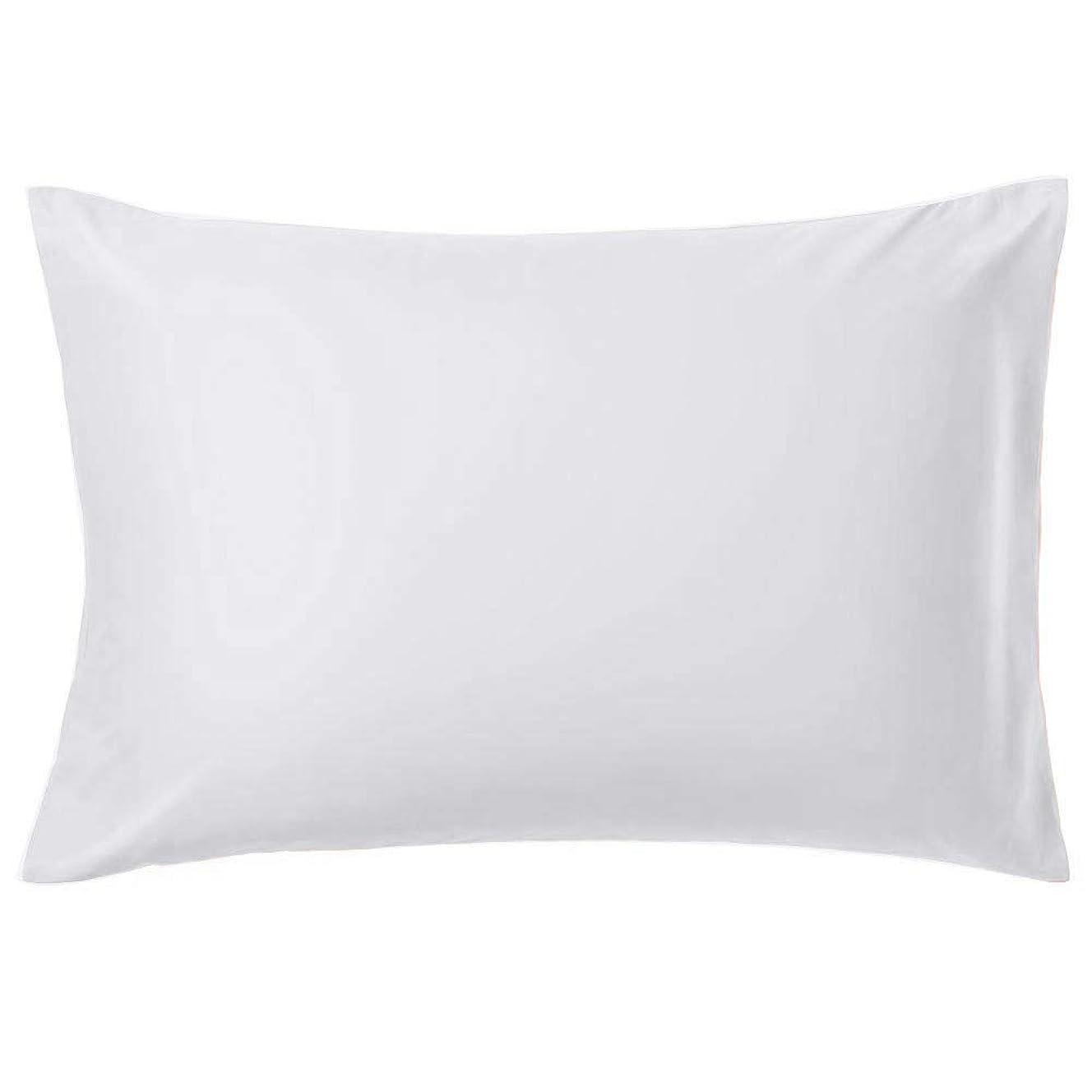 裏切る酔う下位AYO 枕カバー 高級棉100% 全サイズピローケース ホテル品質 13色選べる サテン織 300本高密度 防ダニ 抗菌 防臭 43x63cmサイズの枕に対応