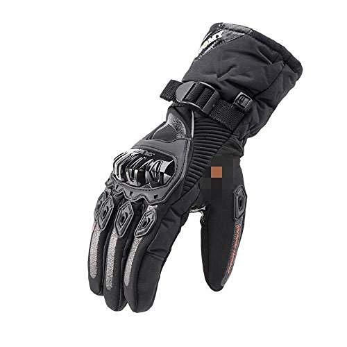 Generieke warme handschoenen fiets winter motorfiets warme ridder anti-val dikke lange handschoenen -L_Red