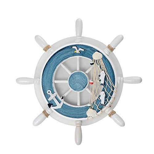 ForeverBox, FB7-62629, mediterranean blue rudder-Shaped carton wandlamp kinderen jongens en meisjes kamer creatieve led-wandlamp met gloeilamp