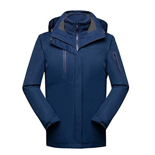CFYTH Herenjas, outdoor, winddicht, met capuchon, windbreaker, jas, 3-in-1 skijas, wielrennen, softshell regenjas