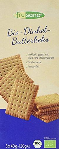 Frusano Bio Dinkel-Butterkeks, 6er Pack (6 x 120 g)