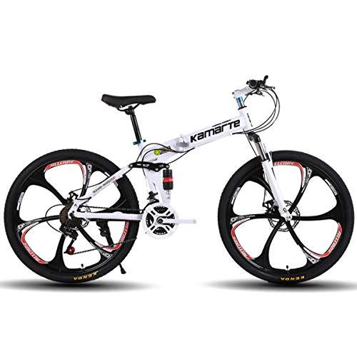 NZ-Children's bicycles Bicicleta de montaña de Doble suspensión Completa, con Ruedas de 26 Pulgadas/Cuadro de Aluminio con Frenos de Disco, transmisión Shimano de 27 velocidades