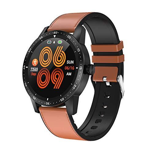 Smartwatch Blutdruck Fitness Armbanduhr mit Pulsmesser IP68 Wasserdicht Smart watch Fitness Uhr Aktivitätstracker Schrittzähler Schlafmonitor Kalorienzähler Sport Uhr Damen Herren für iOS Android Rot