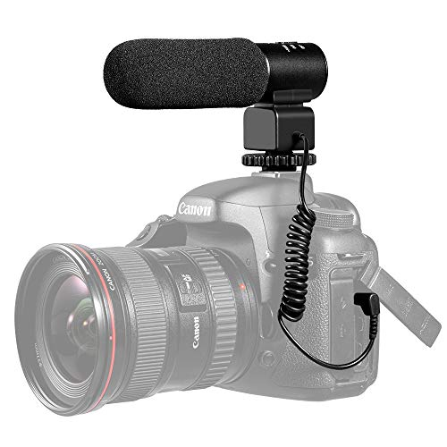 Zeadio Photography video Interview Stereo Microphone for Canon Nikon Pentax Panasonic Sony Samsung Olympus DV Digital SLR Camera Camcorder