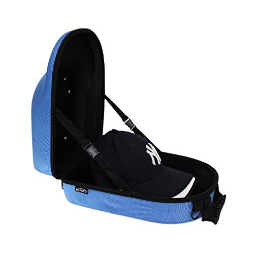 Galexbit Baseball Hat case Cap Carrier Case Holder for 6 Caps Hat bag for Travel (Blue)