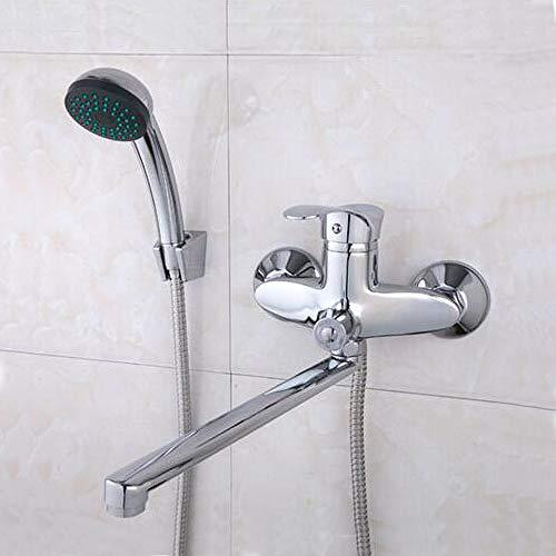 Rubinetti per doccia Rubinetto per vasca da bagno Miscelatore per vasca Miscelatore per doccia Rubinetto per cascata in ottone Set soffione doccia Presa di lunghezza 300mm, F22001, Cina