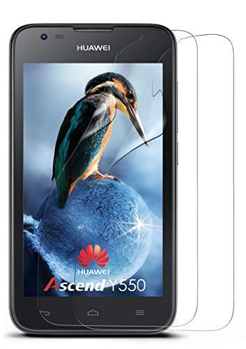 MoEx 2X OneFlow Pellicola di Protezione Display per Huawei Ascend Y550 Pellicola per Display Chiara Trasparente | Adattabilità Perfetta e Protezione ottimale