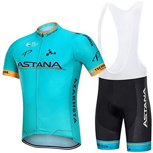 MTTKTTBD Abbigliamento Ciclismo da Uomo,Maglia Manica Corta+9D Gel Cuscino Pantaloncini,Asciugatura Rapida Traspirante Estivo Completo Ciclismo Jerseys per Squadra Professionale