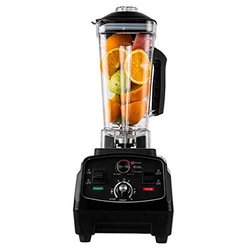 Professional Countertop Blender, Blenders for Kitchen Food Processor Kitchen Blender Food Mixer 2200W Smoothie Maker 2000Ml Multifunctional Blender for Smoothies And Milkshakes, Black