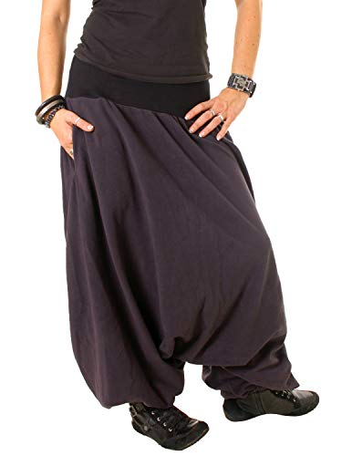 Vishes - Alternative Bekleidung - Haremshose aus Fleece Einheitsgröße/Lange Größe dunkelgrau 40-48