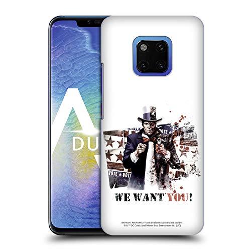 Official Batman Arkham City Graphics Coque arrière rigide compatible avec les téléphones Huawei 1, TwoFace We Want You, Huawei Mate 20 Pro