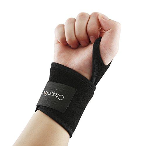 CtopoGo Transpirable Apoyo De La MuñEca Bandas De MuñEca Ajustable Apoyo para El Pulgar Brace Ayuda A con TúNel Carpiano Rsi Artritis Tendinitis, Reforzado con Velcro para Fitness Ejercicio