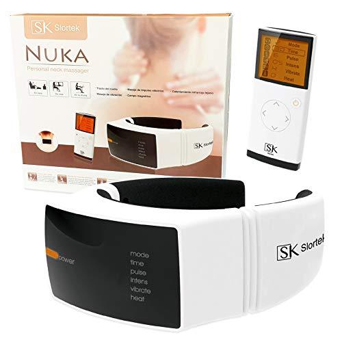 Massaggiatore cervicale elettrico per collo e vertebre - terapia magnetica con calore...