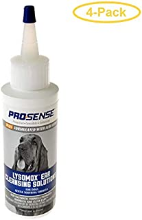 eCOTRITION Pro-Sense Plus Lysomox Ear Cleansing Solutions for Dogs 4 oz - Pack of 4