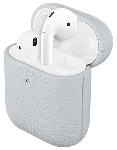 Fooyin Handgefertigtes Serie Leather Hülle für AirPods, Leder Hülle kompatibel mit Apple AirPods 1. & 2. Generation, AirPods 1 und 2 Ledercase (komplett umhüllendes mit Litschikorn), Elfenbein weiß