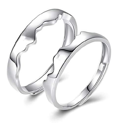 Rongzou Juego de alianzas de boda de titanio con texto en in