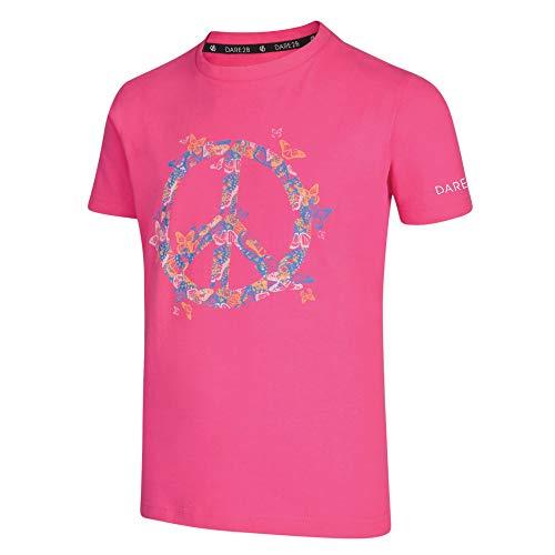 Dare 2b Kinder T-Shirt Frenzy Baumwolle Graphic Print Langarm S Cyber Pink