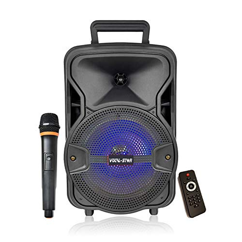 Portable PA Speaker System, Bluetooth, MP3 USB, LED Light Effect, 100w 8'...