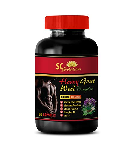 Male Enchantment Supplements - Horny Goat Weed - EPIMEDIUM 1560MG - All Natural Premium Herbal Blend - Promotes Healthy Sexual Vitality - Horny Goat Weed Best - 1 Bottle (60 Capsules)
