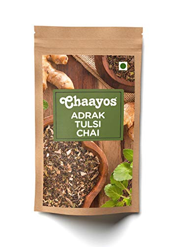 Chaayos Adrak Tulsi Tea - Immunity Boosting Chai Patti with...